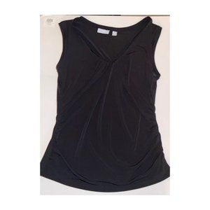 New York & Co. V Neck Black  Sleeveless Blouse